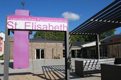 Der Eingangsbereich des Ev. Familienzentrums St. Elisabeth