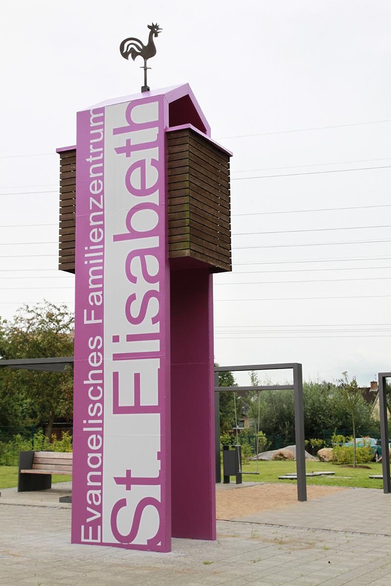 Glockenturm des Evangelischen Familienzentrums St. Elisabeth
